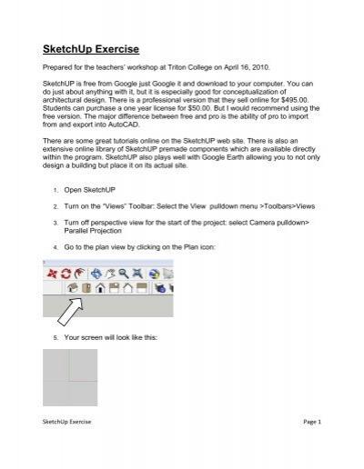 SketchUp Exercise - Triton College Academic Server