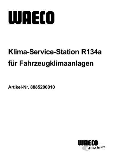 klima service station r134a waeco aircon service. Black Bedroom Furniture Sets. Home Design Ideas