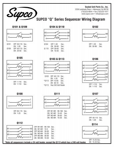 "â€Å""q†series sequencer wiring diagram supco"
