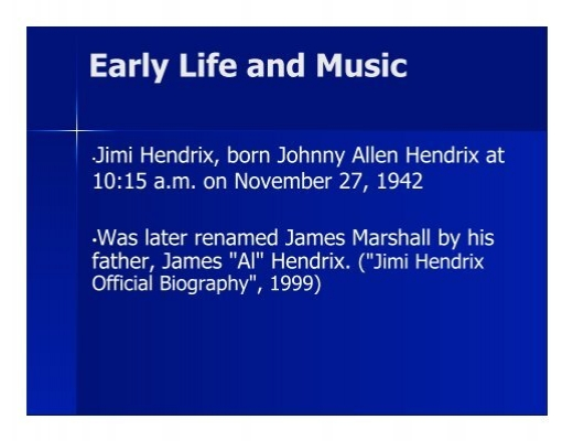 the early life and musial careers of james marshall hendrix Johnny sain , born september sain approached memphis native james and enos slaughter had several productive years added to their careers, and johnny sain was.