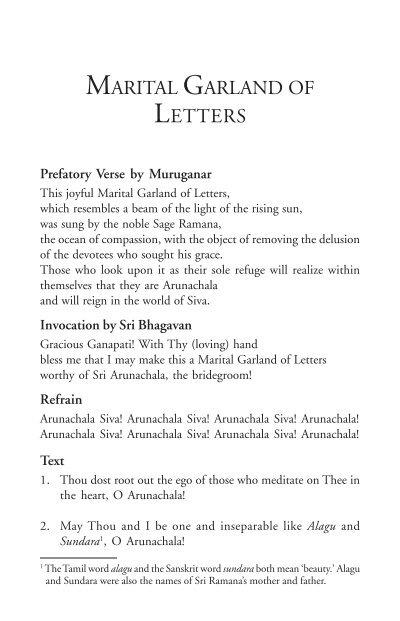 ashram tamil parayana the bhagavan sri ramana maharshi website