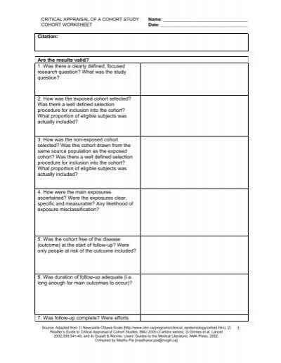 critical appraisal worksheet wiildcreative. Black Bedroom Furniture Sets. Home Design Ideas