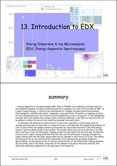 13. Introduction to EDX - CIME - EPFL