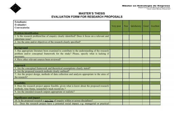 Dissertation evaluation form umich