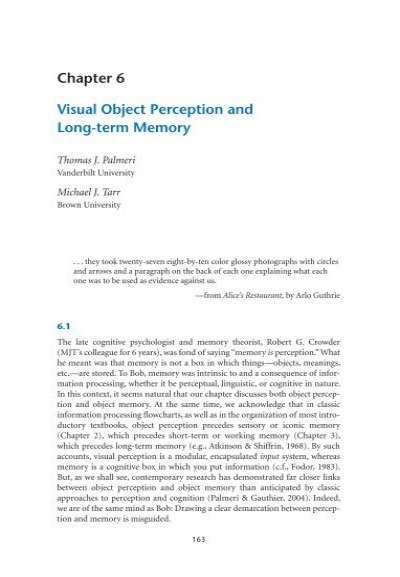 object recognition and visual perception The role of perceptual load in object recognition nilli lavie university college london zhicheng lin perceptual load, distraction, visual perception.