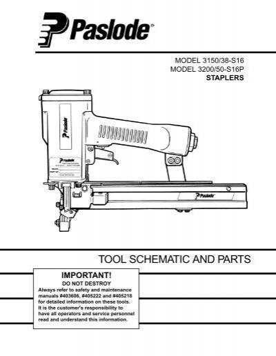 Paslode T125 F18 Schematic - WIRE Center •