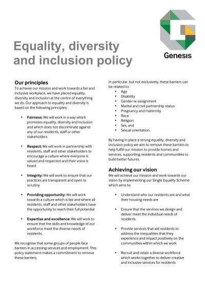 unit shc 53 level 5 champion equality diversity and inclusion Outcome 2- be able to champion diversity, equality and inclusion promote equality, diversity and inclusion below i have listed some main 'skills' that i apply when promoting equality of opportunity, diversity and inclusion at barkat house.
