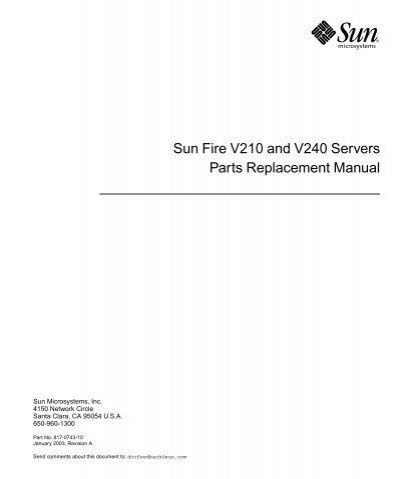 Sun fire v210 and v240 servers compliance and. Docs oracle.