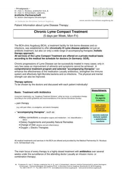 Chronic Lyme Compact Treatment - BCA-clinic