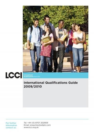 international qualifications customer guide v5 aug09 indd lcci rh yumpu com 2009 2010 Calendar 2009-2010 Rain