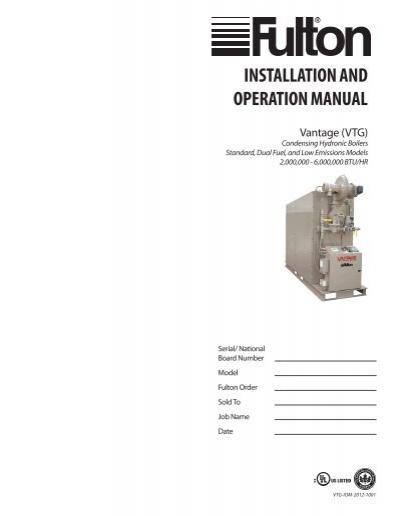Vantage IOM.pdf - HTSYumpu