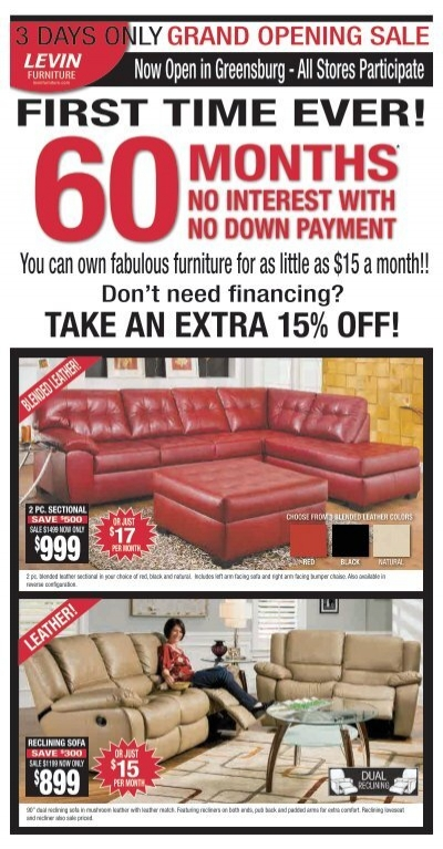 First Time Ever Levin Furniture