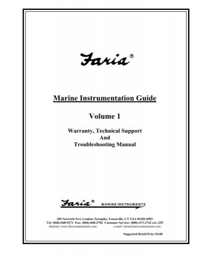 Marine Instrumentation Guide Volume 1 Faria Instruments