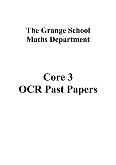 ocr terminal papers maths