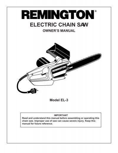 """electric chain saw remington chainsaws and remington rh yumpu com Remington 16"""" Chainsaw Remington Chainsaw Parts List"""