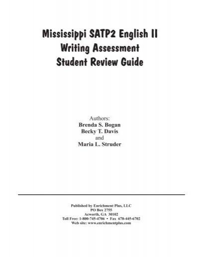 mississippi satp2 algebra i student review guide enrichment plus rh yumpu com Mississippi Information Mississippi Information
