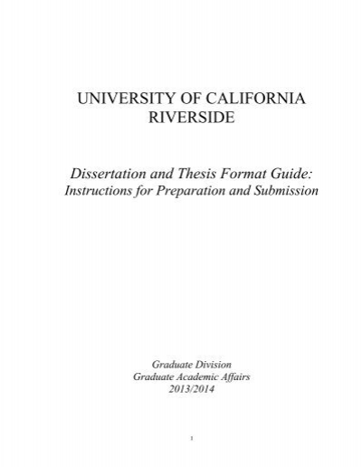 Introduction - Thesis and Dissertation Guide - UNC-Chapel Hill Graduate School