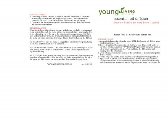 Pdf Instructions Young Living