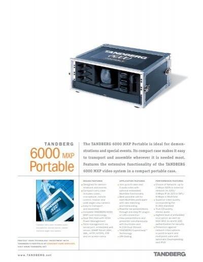 6000 mxp portable tandberg video conferencing video rh yumpu com Tandberg 6000 MXP Specifications tandberg codec 6000 mxp manual
