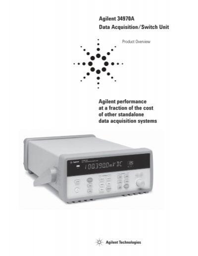 agilent 34970a data acquisition switch unit northwestern university rh yumpu com agilent 34970a user manual.pdf Agilent 34970A Data Logger