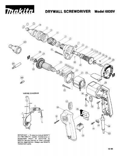 Drywall Screwdriver Model 6820v