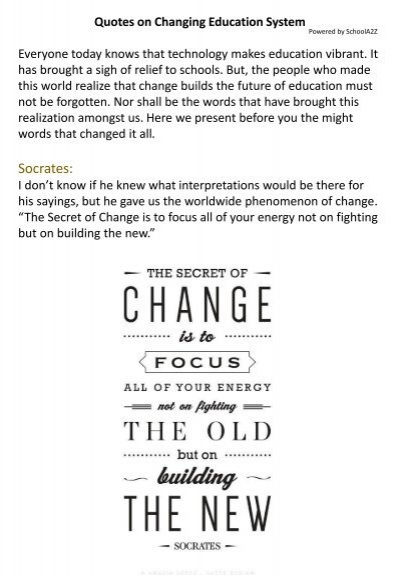 quotes on changing education system schoolaz