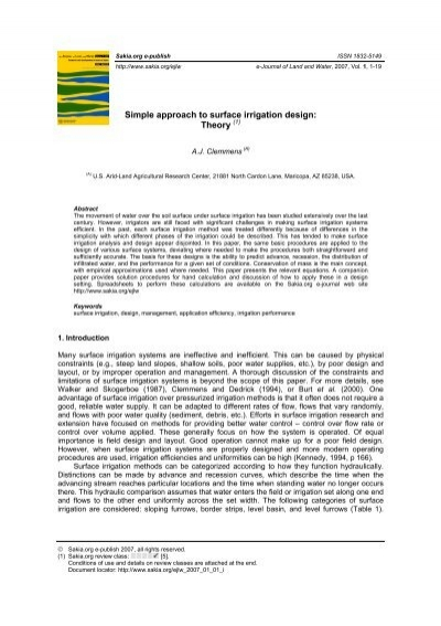 Simple approach to surface irrigation design theory for Minimalist architecture theory