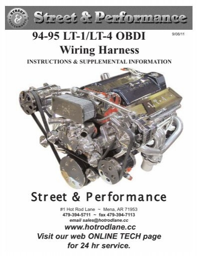 94 95 lt 1  lt 4 obdi wiring harness street   performance