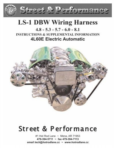 ls 1 dbw wiring harness street   performance