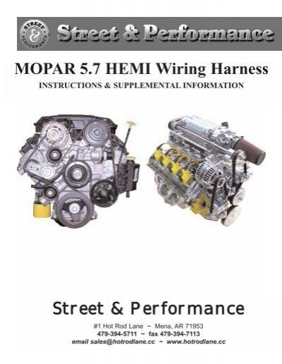 mopar 5 7 hemi wiring harness street performance rh yumpu com