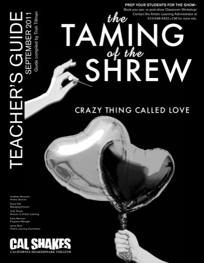 character identity in the taming of Self, marriage, and family in the taming of the shrew: an overview the taming of the shrew (1593-4) introduces themes and ideas-including identity formation and the connections between construction(s) of self, marriage, and family relationships-that will recur in the various plays we read this semester.