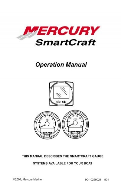 Mercury Smartcraft Systems monitor manual
