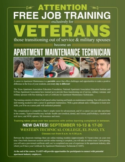 certificate for apartment maintenance technicians western