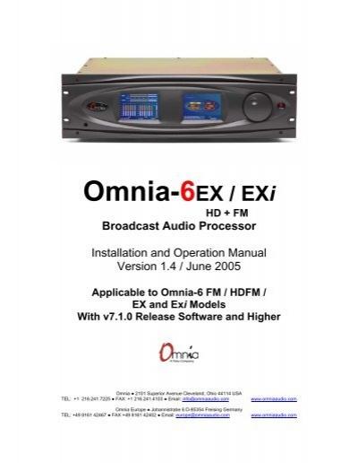 omnia user manual omnia6 series avc group rh yumpu com omnia 6 user manual omnia 8106 user manual