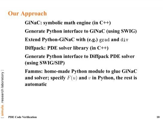 Our Approach Ginac Symbo