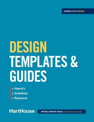 Design Template User Guide Hart House – Free User Guide Template