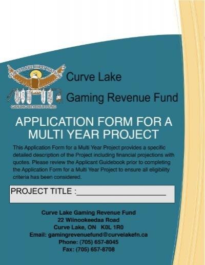 GRF Multi-Year Project Application (pdf - 1336KB) - Curve ...