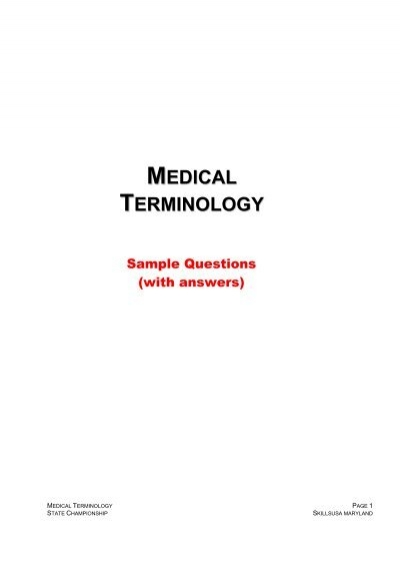 A sample worksheet for medical terminology mapping | download.