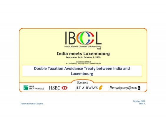 Double Taxation Avoidance Treaty Between India And Luxembourg