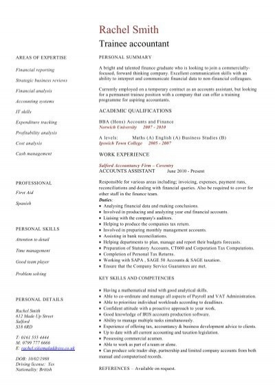 Graduate software engineer cv example dayjob trainee accountant cv sample dayjob pronofoot35fo Gallery