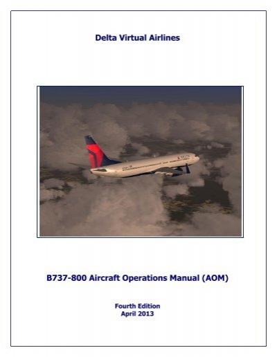 boeing 737 800 operating manual delta virtual airlines rh yumpu com B737 Aircraft Seating B737 Aircraft Mechanic Jobs