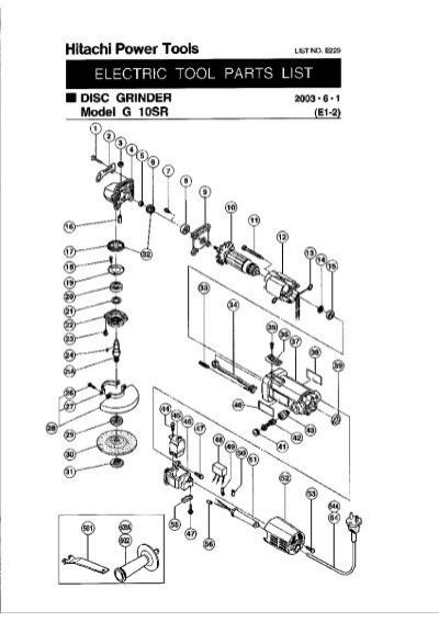 Hitachi g10sr 4 electric angle grinder carey tool greentooth Images