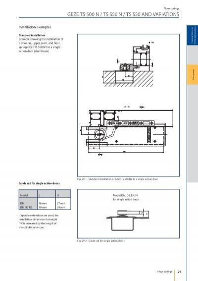 floor springs geze ts. Black Bedroom Furniture Sets. Home Design Ideas