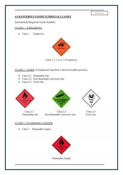 Dangerous Goods Symbols Class Jacksons Security