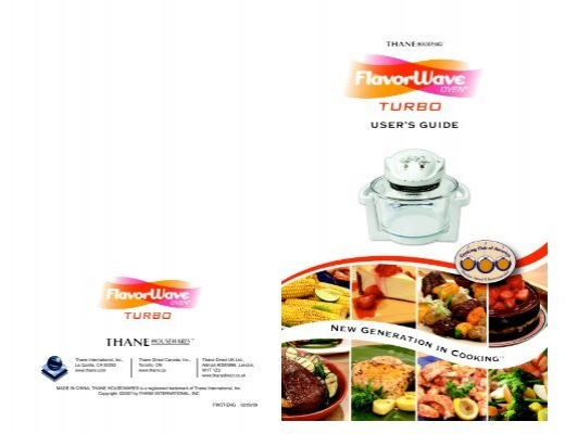 flavorwave turbo oven instructions