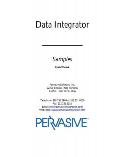 Pervasive data integrator | xml schema | xml.