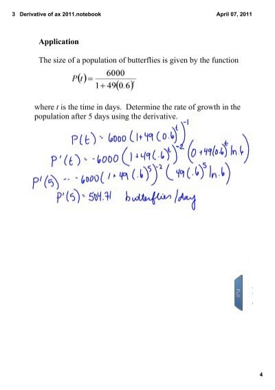 derivative and exp Maxima 5410 manual: 18 differentiation  expr: exp (z(x))  diff (z(x), x)  y(x  returns the derivative or differential of expr with respect.