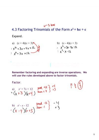 factoring trinomials a 1 worksheet kuta kuta software algebra 1 factoring trinomials google. Black Bedroom Furniture Sets. Home Design Ideas