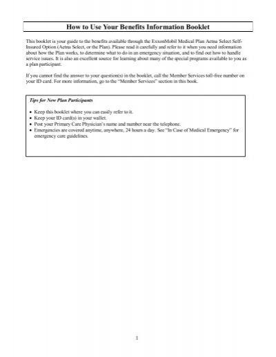 Exxonmobil Medical Plan Emmp Exxonmobil Family Home Page