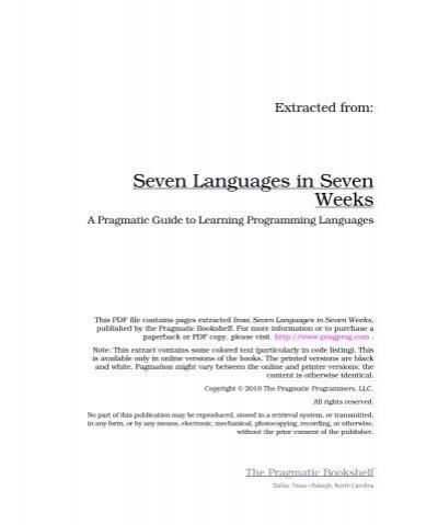 Seven Languages In Seven Weeks Pdf